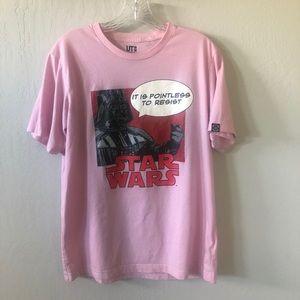 Star Wars Darth Vader Pop Art Pink Tee - Size M